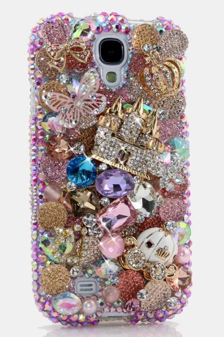 Bling Crystals Phone Case for iPhone 6 / 6s, iPhone 6 / 6s PLUS, iPhone 4, 5, 5S, 5C, Samsung Note 2, Note 3, Note 4, Galaxy S3, S4, S5, S6, S6 Edge, HTC ONE M9 (ULTIMATE FAIRYTALE DESIGN) By LuxAddiction
