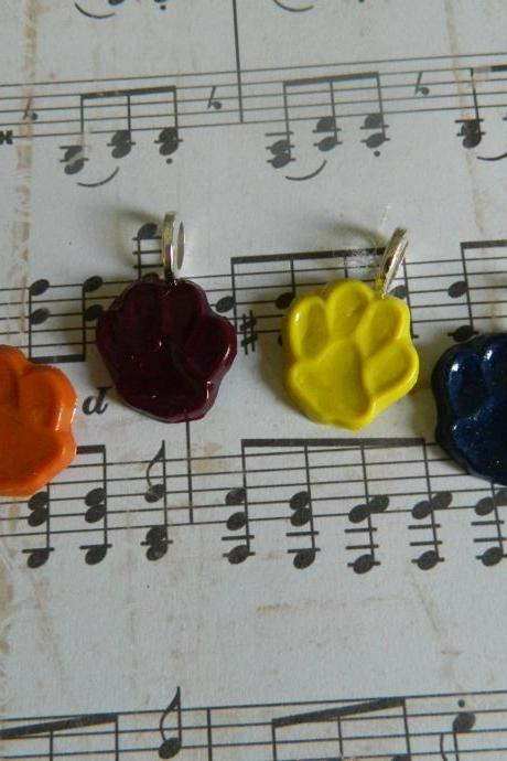 Paw Print Pendant - You Choose the color