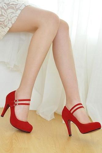 Hot Selling Fashion Style Women Pumps PU Sexy High Heels platform Wedding Shoes