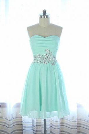 Mini Chiffon Cocktail Dress, Party Dress, Prom Dress