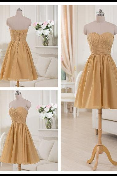 Short Chiffon Bridesmaid Dress, Party Dress/Homecoming Dress