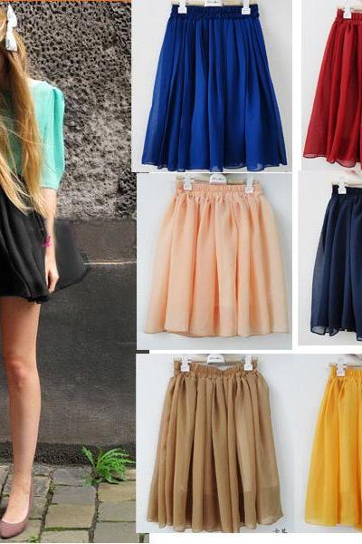 Explosion Models Oversized Pleated Skirts Skirt