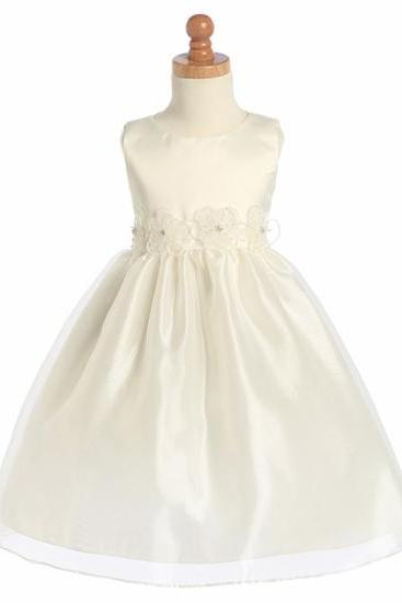 2015 new Flower Girl Dress With Navy Sash and Bow Blossom Pink Sleeveless Taffeta Bodice Layered Skirt w_ Detachable Sash