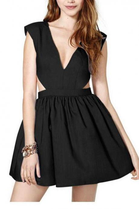 SEXY WAIST HOLLOW OUT DRESS