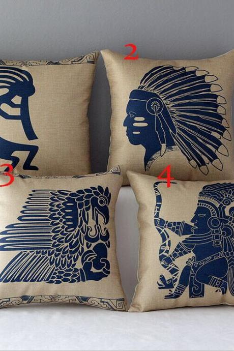High Quality 4 pcs a set Indians Cotton Linen Home Accesorries soft Comfortable Pillow Cover Cushion Cover 45cmx45cm