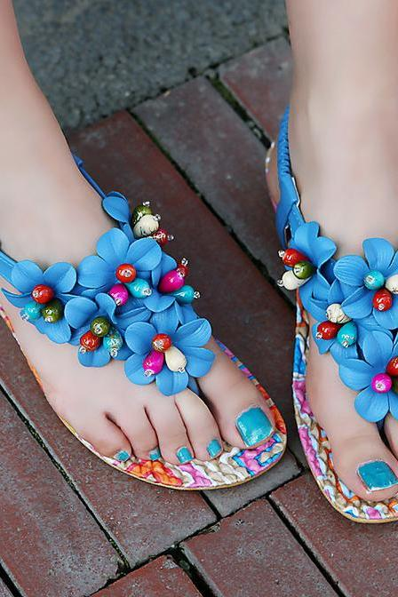 2015 Fashion Flower Sandals shoes for women