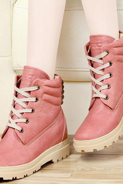 2015 new fashion Rivet Leather Snow Boots for women