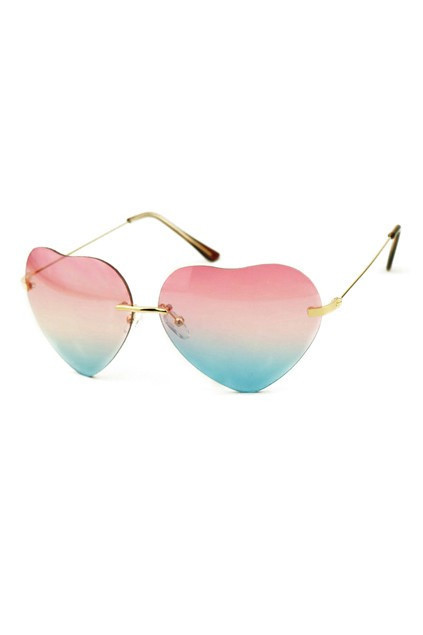 FASHIONABLE LOVELY HEART-SHAPED SUNGLASSES