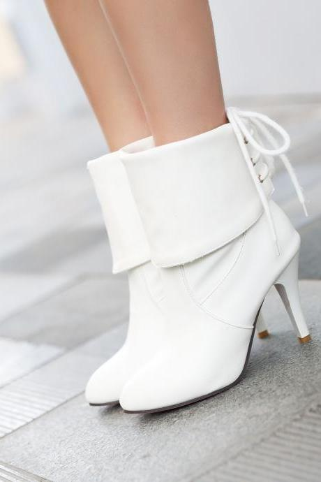 New Fashion Women Ankle Boots Sexy High Heels Winter Spring Shoes Platform Martin Boots