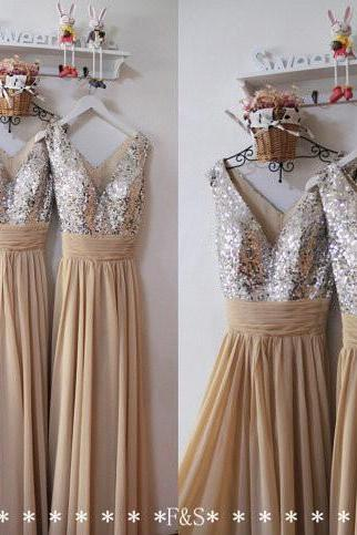 Sequin Long Prom Dress,Sexy Champagne Evening Dress,Sexy Formal Long Prom Dresses,Champagne Sexy Evening Dress,Sequin Prom Dress,Prom Dress
