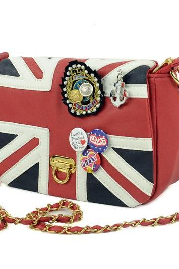 UK Flag Badge Handbag Shoulder Bag