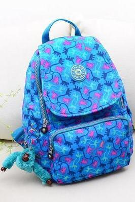 Travel Backpack Waterproof Nylon Shoulder Bag Handbag --Blue