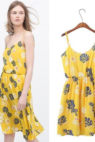 Women'S European Style Bohemian Print Dress Dress