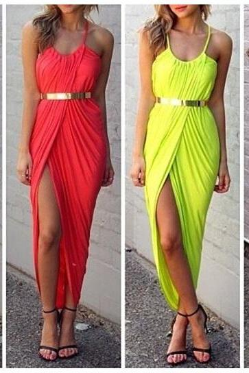 Sexy Front Slit Split Maxi Dress - Summer Beach Dress (available in S, M, L, XL)