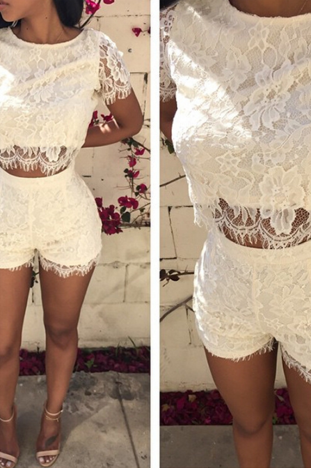 Sexy lace two-piece dress SF72010JL