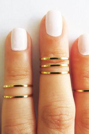 GOLD JEWELRY, WIRE RING, GOLD ACCESSORIES