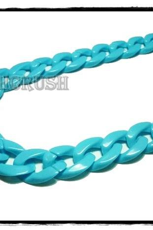 Blue CHUNKY CHAIN Plastic Link Necklace Craft Connector 30 inch A76