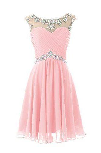 Bd07215 Charming Homecoming Dress,Beading Homecoming Dress,Chiffon Homecoming Dress, Cute Short Prom Dress