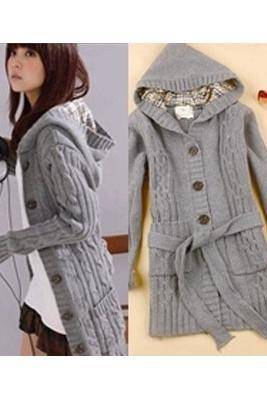 Super Cute Hood Sweater Cardigan