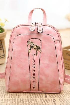 Candy-Colored Backpack Shoulder Bag