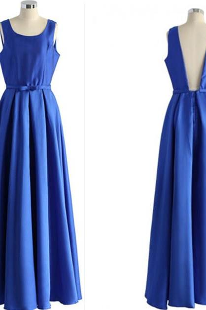 Royal Blue Charming Prom Dresses,The Backless Floor-Length Evening Dresses, Prom Dresses, Real Made Prom Dresses On Sale,Bridesmaid Dresses