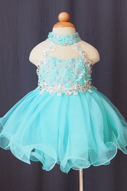 Lafine Elegant Chiffon Tutu Flower Girl Dress Baby Infant Toddler Pageant Clothes