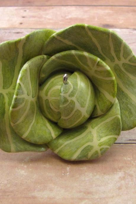 Cabbage Christmas Ornament - Farmer's Market Collection January 2012 Made to Order