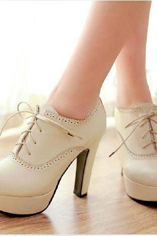Sweet Lace-Up High Heels, Lace-Up High Heels For Girls, High Heels Shoes