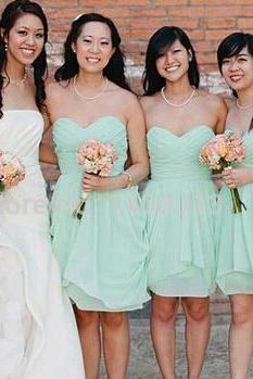 Mint Green Bridesmaid Dress, Short Bridesmaid Dresses, Junior Bridesmaid Dresses, Cheap Bridesmaid Dress, Chiffon Wedding Party Dress, Mint Dress Bridesmaid, Dresses For Weddings