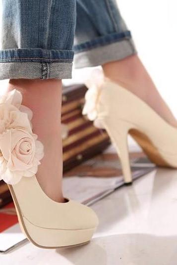 2015 hot sale Sexy Spring summer fall Beige Heels