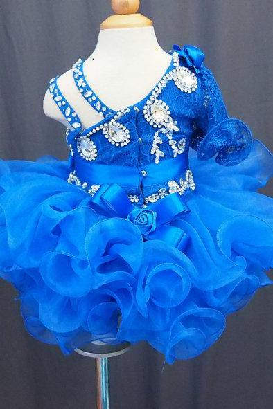 lafine full handmade Tutu Flower Girl Dress Baby Infant Toddler Pageant Clothes