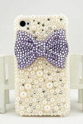 Purple bowknot bling iPhone 7 Plus, iPhone 6 6s case, iPhone 6 6s Plus case, iPhone 5s SE case, iPhone 5c case, bling wallet case for samsung galaxy note 4 note 5 s7 edge s6 edge s5