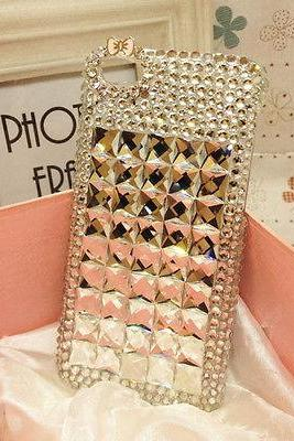 Cute bowknot Bling iPhone 7 Plus, iPhone 6 6s case, iPhone 6 6s Plus case, iPhone 5s SE case, iPhone 5c case, bling wallet case for samsung galaxy note 4 note 5 s7 edge s6 edge s5