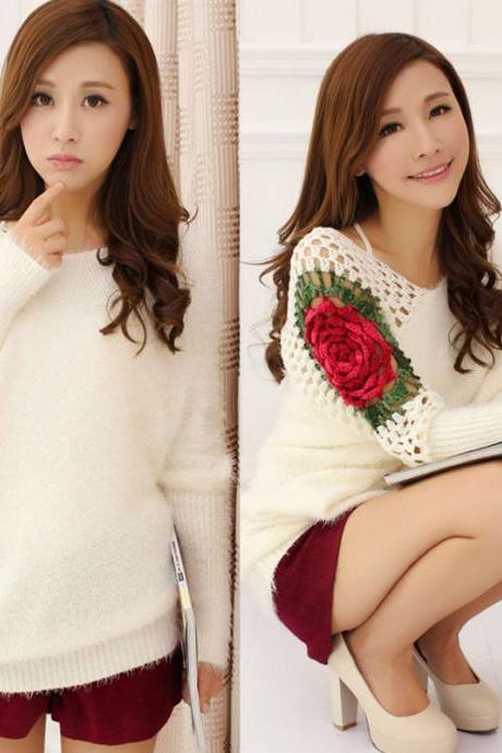Hot sale Fashion Hollow Out Crochet Irregular knit &Cardigan for women