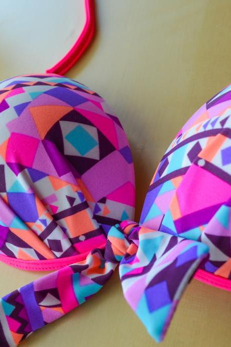 Colorful Bikini set / low waist / Very comfortable & pretty!