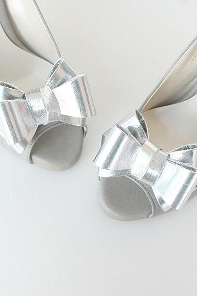shiny,glossy RIbbon navy Bridal Shoe Clips,Shoe Clips,Wedding Clips, wedding shoes corsage,ribbon shoes clip,shoeclip