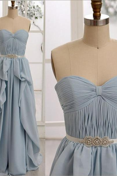Elegant pleated chiffon evening dress prom dress