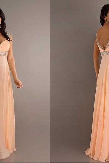 2016 Sexy long Prom Dress Chiffon party dresses Hot sale Prom Gowns