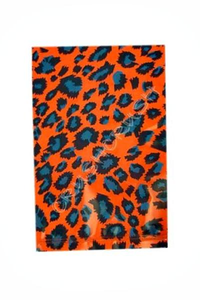 FREE SHIPPING -- 40pcs Hot Orange Leopard Animal PrintPlastic Bags for Gifts Cute G16