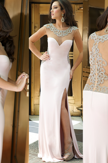 07293 High Quality Prom Dress,Mermiad Prom Dress,Satin Prom Dress,O-Neck Prom Dress, Beading Prom Dress