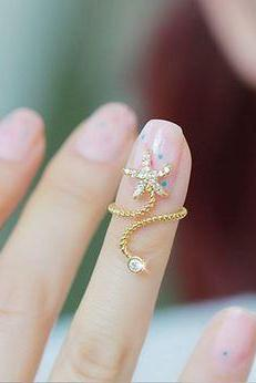STARFISH THREAD RING (ADJUSTABLE)