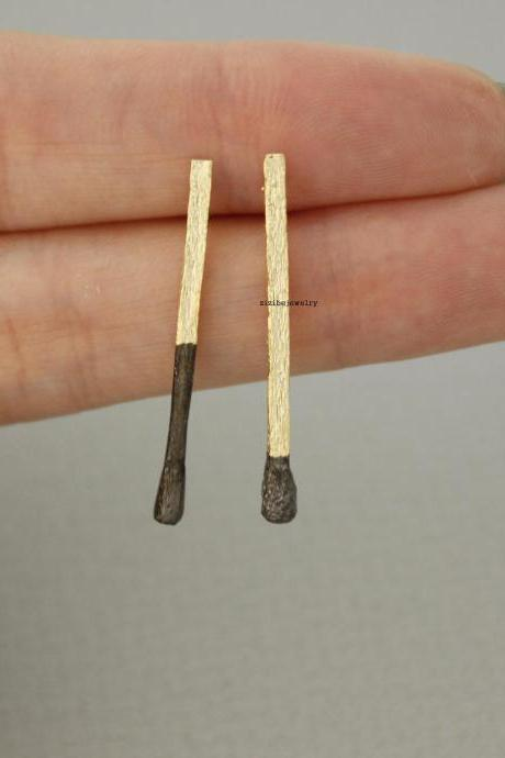 Long Matchstick stud Earrings, E0628G
