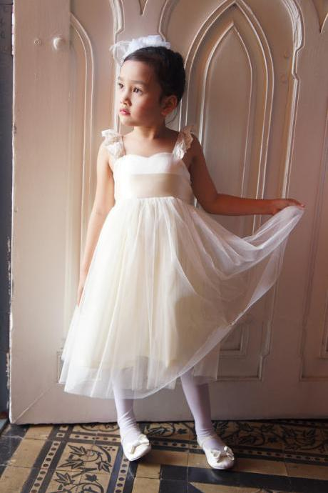 2015 Ivory Flower Girls dress, Toddler girl dress, Baby girl dress, Bridesmaid dress, Girl birthday outfit, Rustic flower girl dresses.