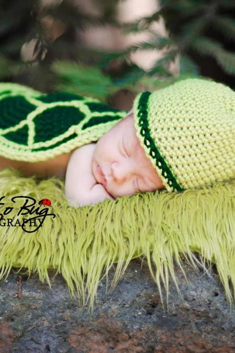 Turtle Shell, Hat, and Diaper Cover Crochet Pattern