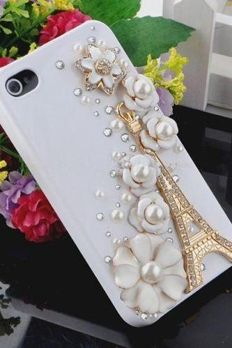 Eiffel Tower Bling iPhone 7 Plus, iPhone 6 6s case, iPhone 6 6s Plus case, iPhone 5s SE case, iPhone 5c case, bling wallet case for samsung galaxy note 4 note 5 s7 edge s6 edge s5