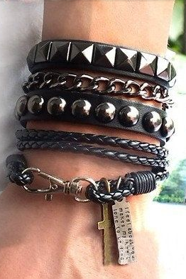 Leather Wrap Bracelet Multilayer Leather Bracelet Fashion Men's Bracelet Women Bangle Jewelry