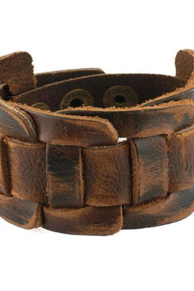 Brown Leather Wrap Bracelet Leather Bracelet Cuff Women Bracelet Men Bracelet Adjustable Bracelet
