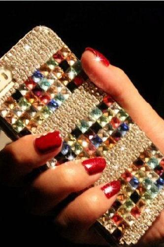 Colorful bling iPhone 7 Plus, iPhone 6 6s case, iPhone 6 6s Plus case, iPhone 5s SE case, iPhone 5c case, bling wallet case for samsung galaxy note 4 note 5 s7 edge s6 edge s5