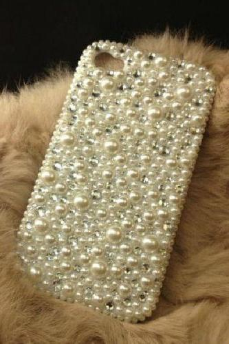 Bling Fashion Mixed Pearls iPhone 7 Plus, iPhone 6 6s case, iPhone 6 6s Plus case, iPhone 5s SE case, iPhone 5c case, bling wallet case for samsung galaxy note 4 note 5 s7 edge s6 edge s5