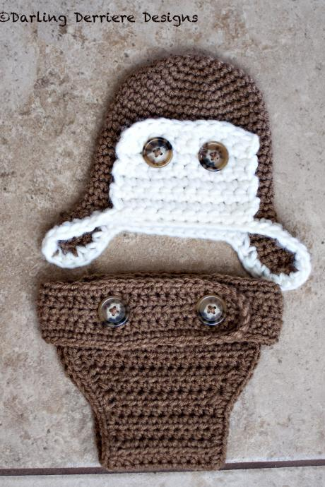 Aviator Hat and Diaper Cover Pattern
